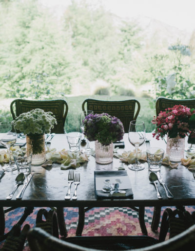Fantail Weddings Styling florals Table