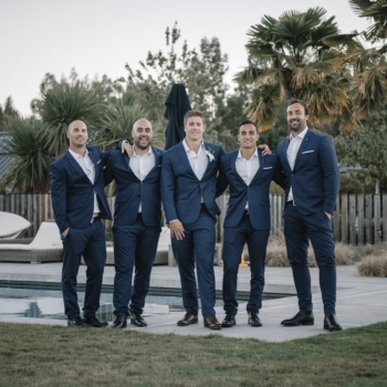 Groom and Grooms men navy blue suits