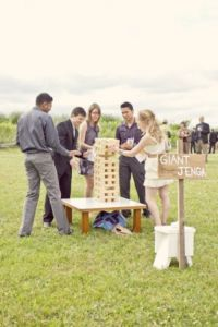 Wedding games for guests - Giant Jenga